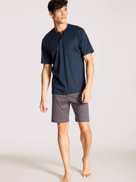 Bilde av Calida Premium Cotton Short Pyjama, Str S-XXL, Sapphire