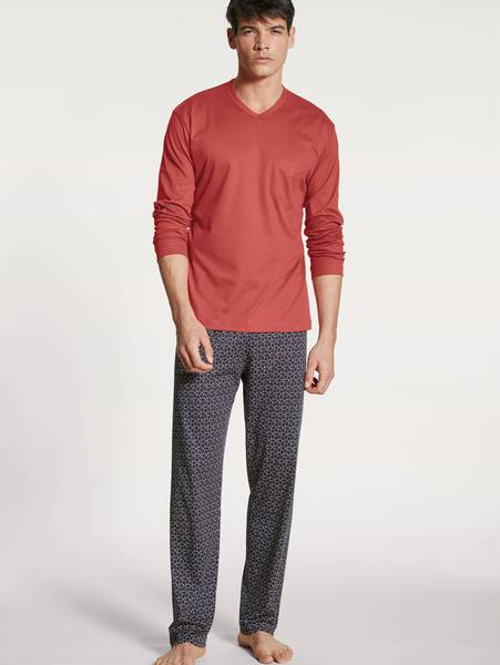 Bilde av Calida Premium Cotton Pyjamas, Str S-XXL, Red