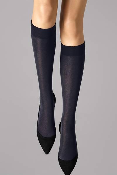 Bilde av Wolford Velvet de Luxe 50 Knee-Highs, Str S-M, Admiral