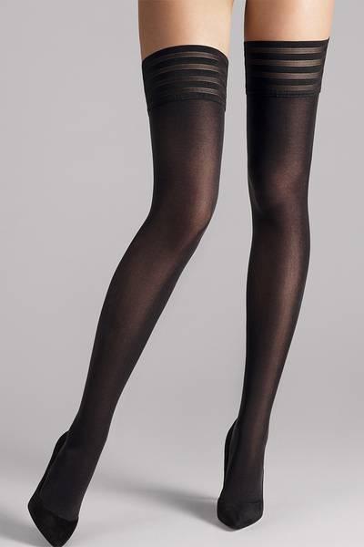 Bilde av Wolford Velvet de Luxe 50 Stay-Up, Str XS-L, Black