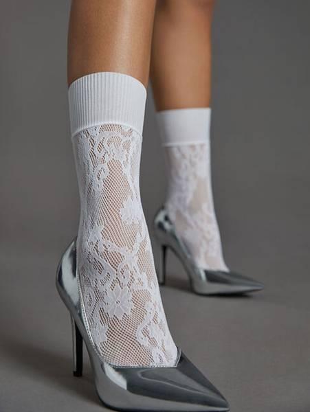 Bilde av Wolford Kassandra Socks, One Size, White