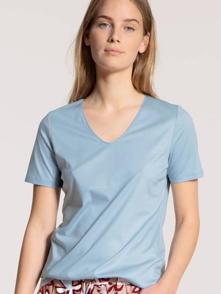 Bilde av Calida Supima Cotton Shirt, Str 36-50, Blue