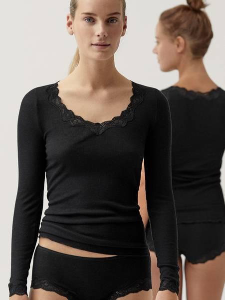 Bilde av Calida RL Merinowool/Silk Shirt LS, Str 36-50, Black