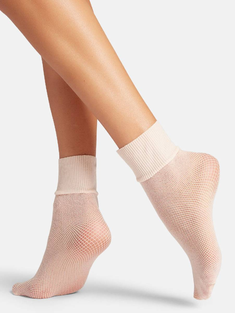 Wolford Roller Socks, One Size, Pink Sky
