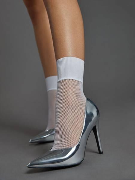 Bilde av Wolford Roller Socks, One Size, White