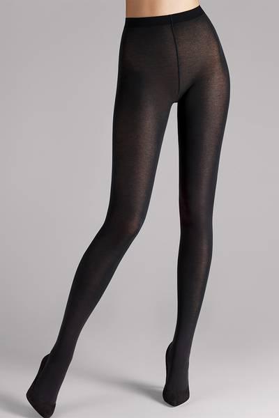 Bilde av Wolford Cotton Velvet Tights, Str S-XL, Black