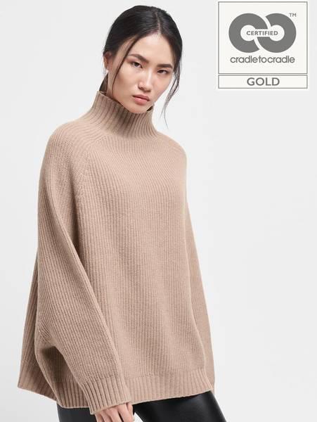 Bilde av Wolford Aurora Bio Wool Pullover,  Str XS-L, Kamut