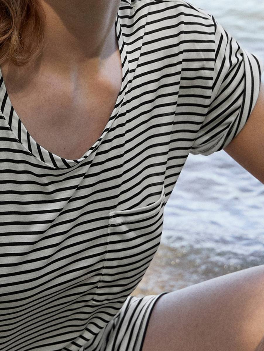 Calida 100% Nature Shirt, Str 36-46, Stripes