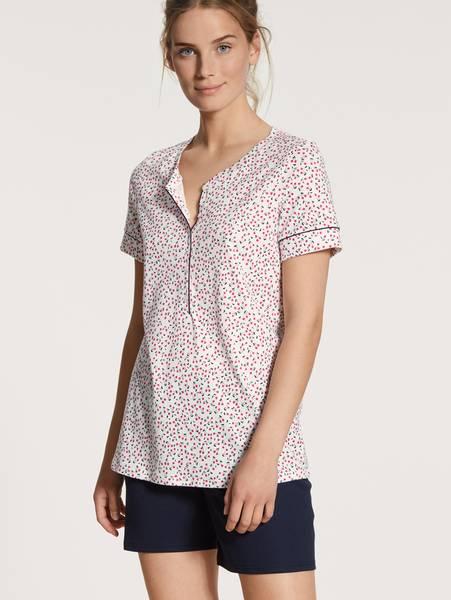 Bilde av Calida Supima Cotton Short Pyjamas, Str 36-50, Blue