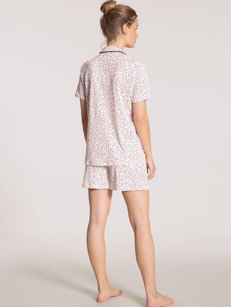 Calida Supima Cotton Short Pyjamas, Str 36-50, White