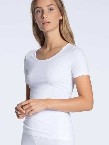 Bilde av Calida Supima Cotton Shirt SS, Str 36-50, White