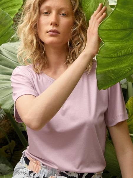 Bilde av Calida Modal/Cotton Shirt SS, Str 36-50, Lavender