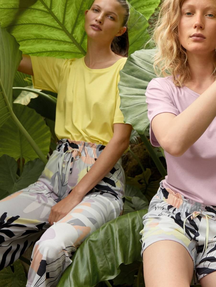 Calida Modal/Cotton 7/8 Pants, Str 36-50, Fog