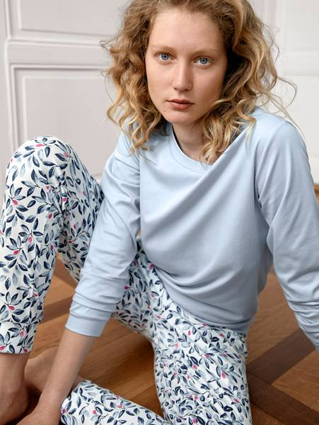 Bilde av Calida 100% Premium Cotton Pyjamas, Str 36-50, Blue Fog