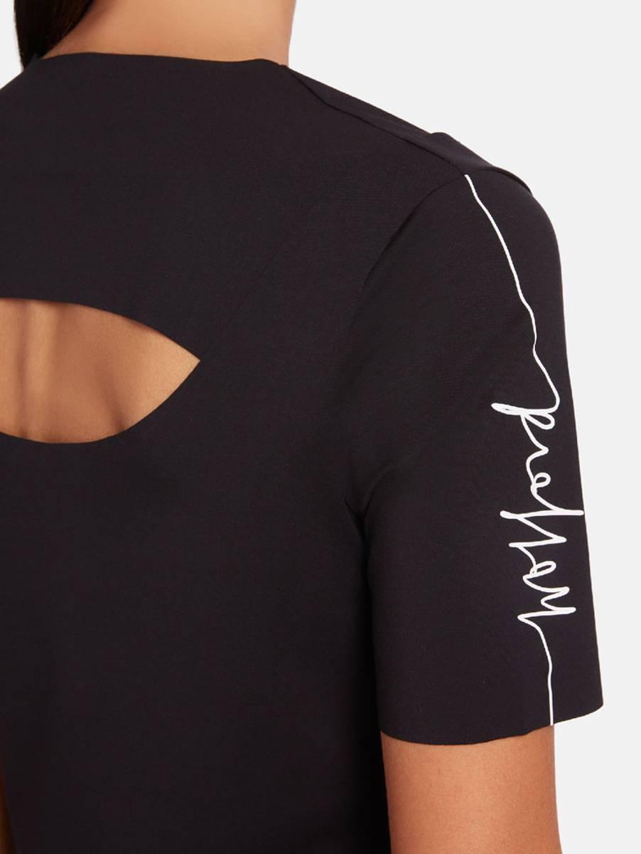Wolford Logo Script Cut Out Shirt, Str XS-L