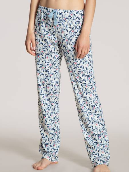Bilde av Calida 100% Premium Cotton Pants, Str 36-50, White/Blue