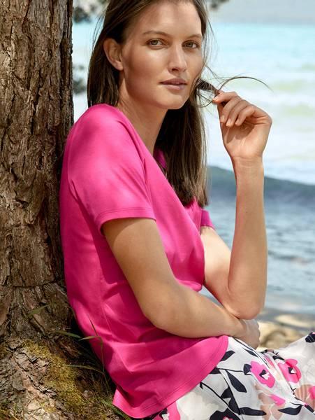 Bilde av Calida Supima Cotton Shirt, Str 36-50, Bright Pink