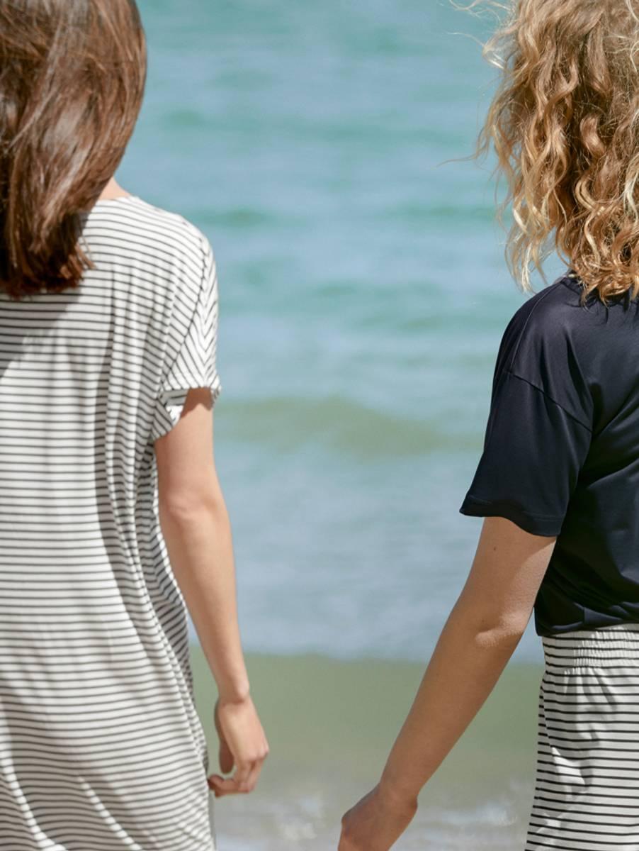 Calida 100% Nature Sleepshirt, Str 36-50, Stripes