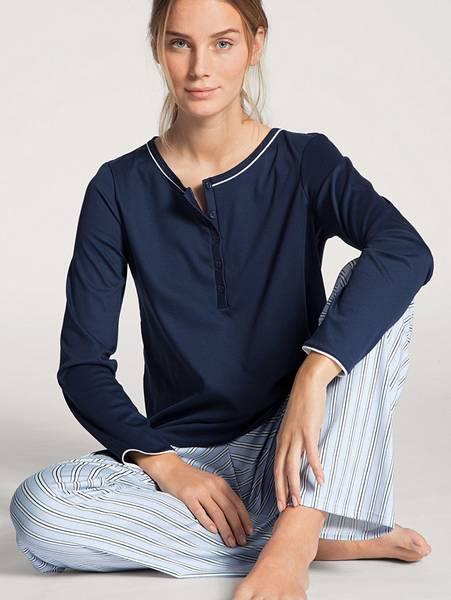 Bilde av Calida 100% Premium Cotton Pyjamas, Str 36-50, Blue