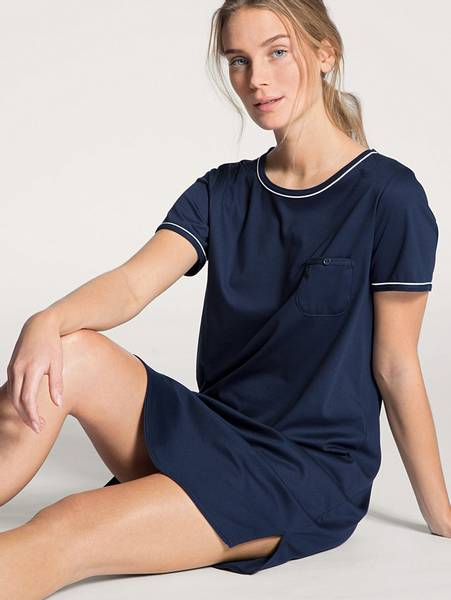 Bilde av Calida 100% Premium Cotton Sleepshirt, Str 36-50, Blue