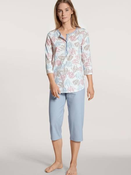 Bilde av Calida Cotton 3/4 Pyjamas, Str 36-54, Blue Fog