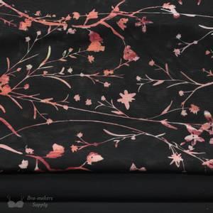 Bilde av Printet mesh kit til foam cup bh   Sort med rød