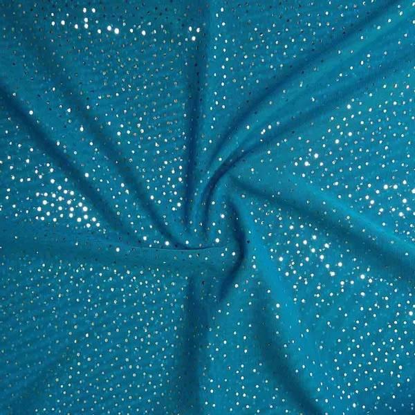 Stretch mesh | Glitter | Turkis