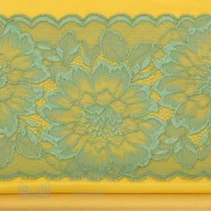 Bilde av BH sett  med blonder gul/grønn