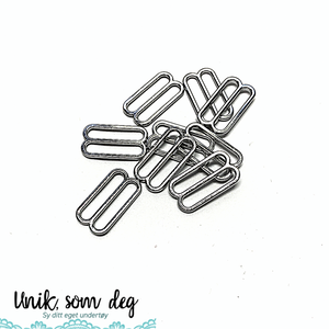 Bilde av Skyvestykker for stropper | sølv | flere