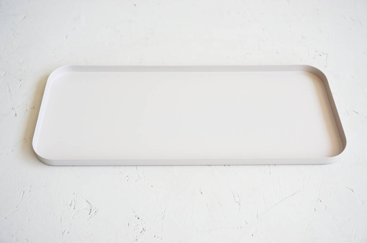 Metallplett, grå, 40x17cm