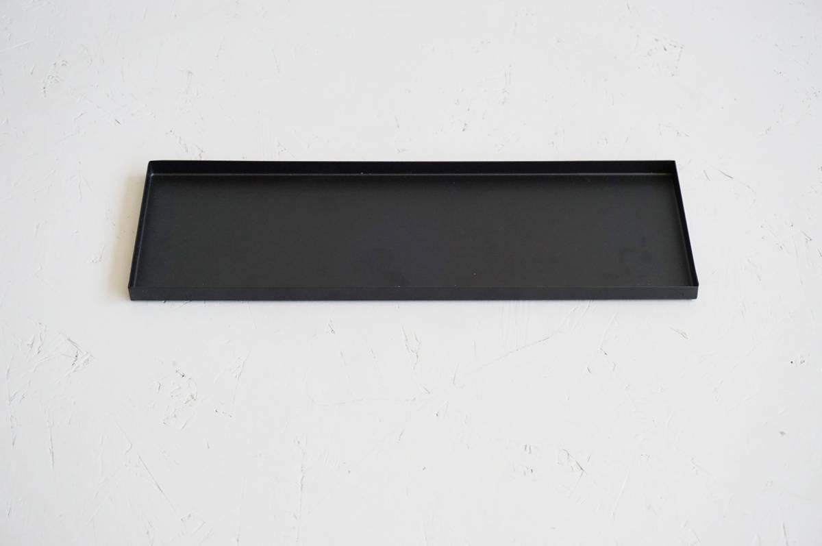 Metallfat, sort, 30x10 cm