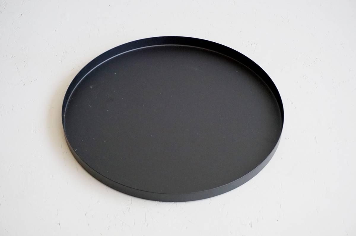 Metallfat, sort, 40 cm