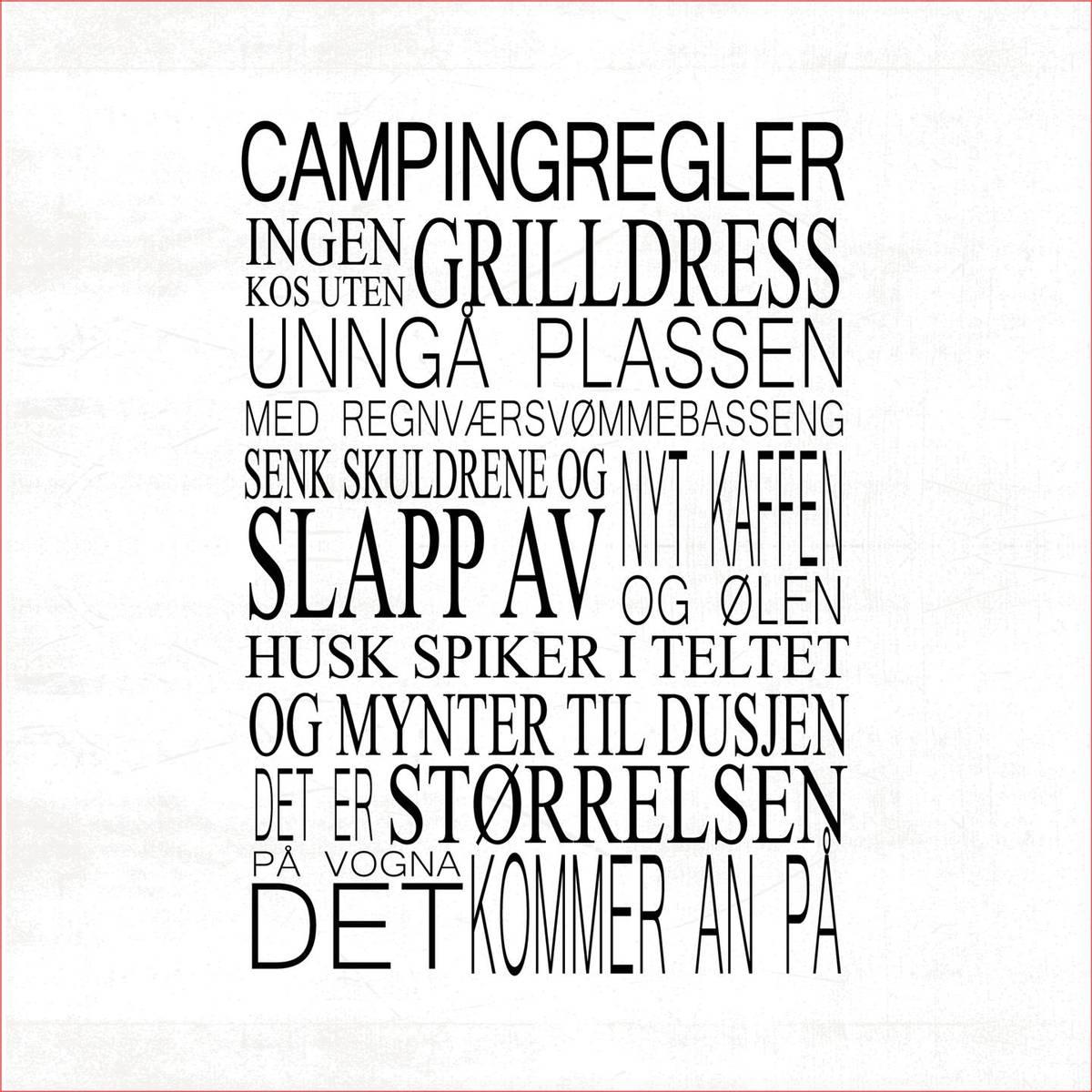 Servietter   Campingregler hvit  Vanlig str