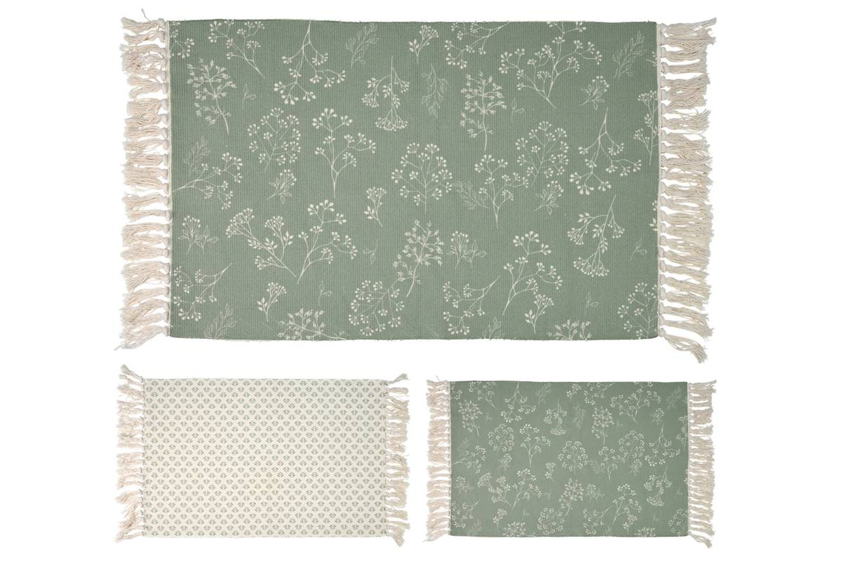 Teppe med frynser, 60x90 cm
