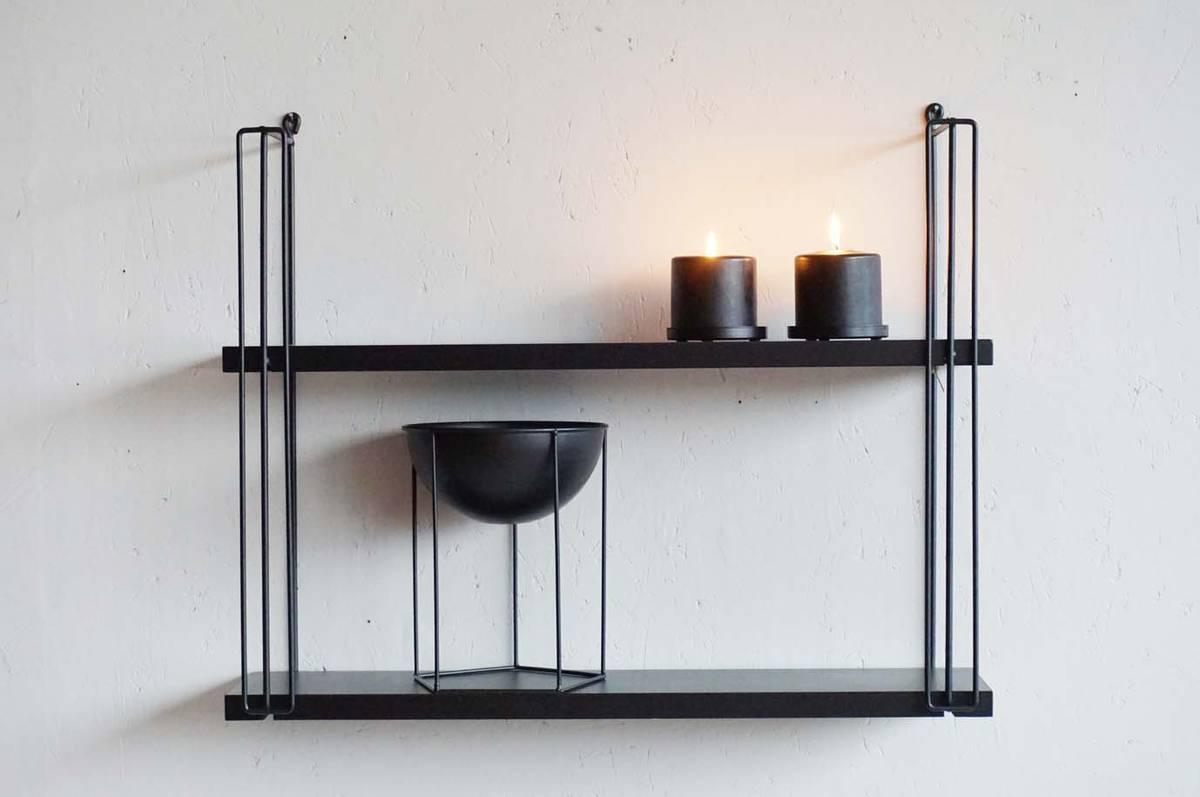 Metallskål, metall, sort, 21 cm
