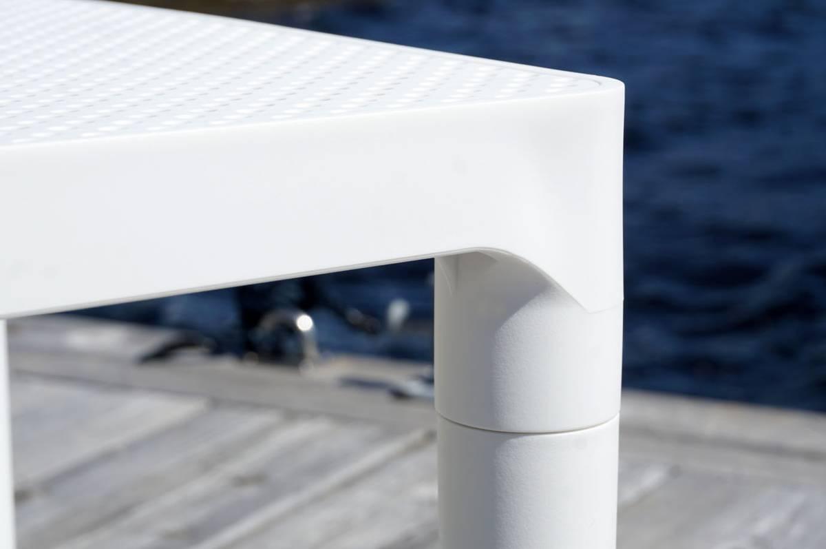 Loungebord, hvit