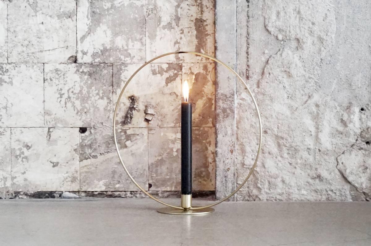 Lysestake, metall, 35 cm, gull