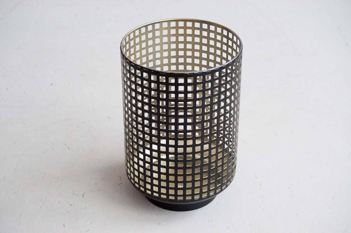 Lyslykt, metall, 23 cm
