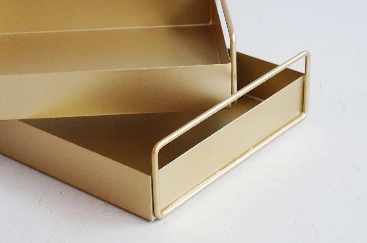 Metallfat, gull, sett av 2