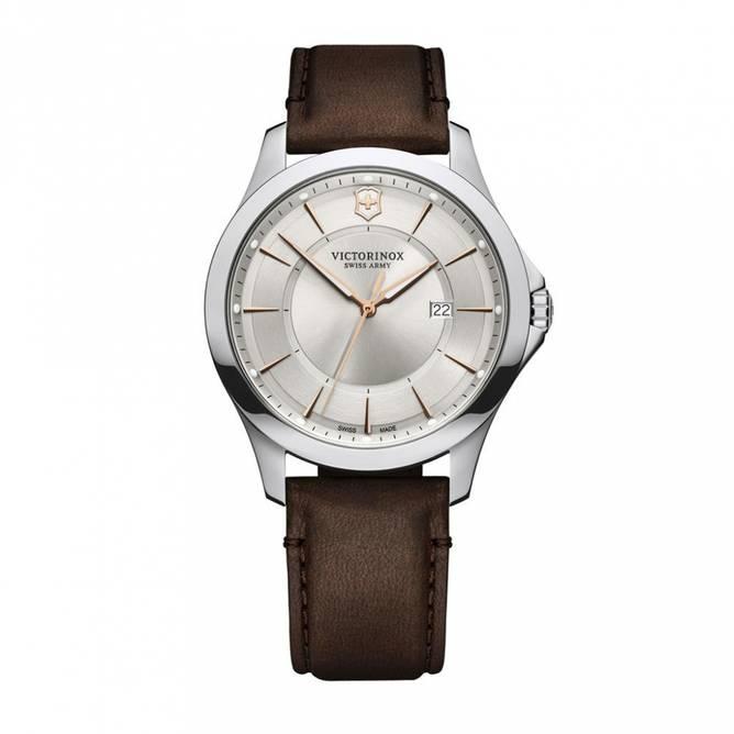 Bilde av Victorinox Alliance 40 Silver Dial Brown Leather