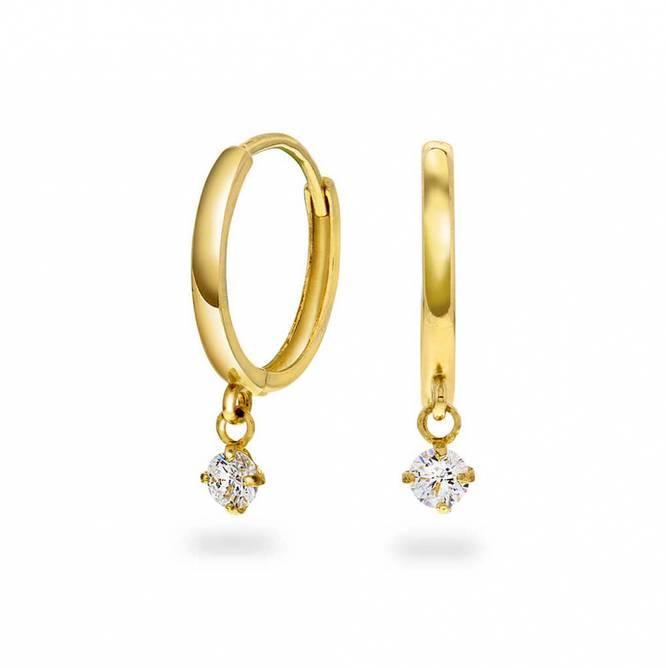 Bilde av Øredobber i gull med zirkonia