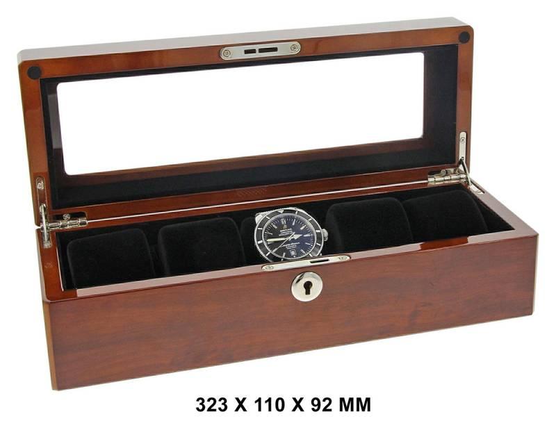Bilde av WATCH BOX FOR 5 WATCHES BUVINGA 323 X 110 X 92 MM