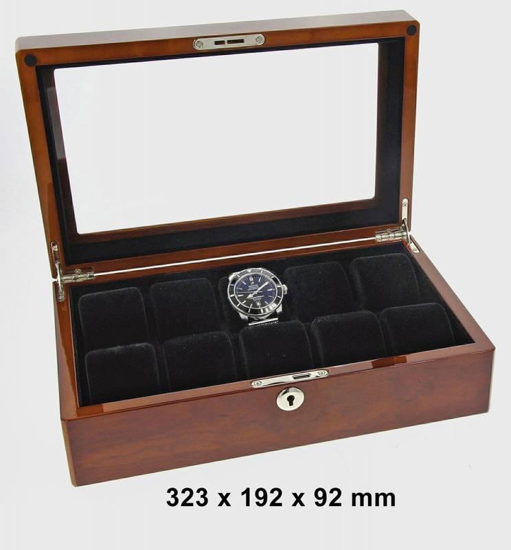 Bilde av WATCH BOX FOR 10 WATCHES BUVINGA 323 X 192 X 92 MM