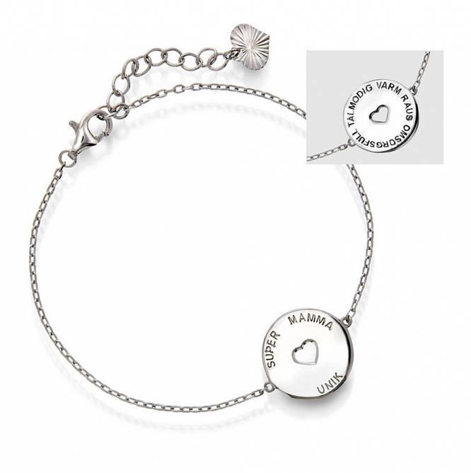Bilde av Armbånd i sølv SUPER MAMMA