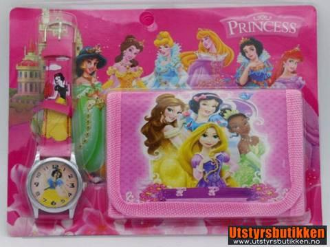 Bilde av Disney prinsesser gavesett - Klokke og lommebok