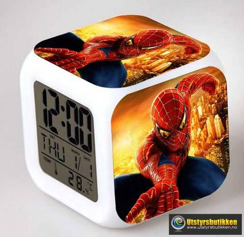 Bilde av Spiderman 2 LED vekkerklokke med termometer og