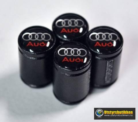 Bilde av Ventilhetter Audi sort rund - 4 pk