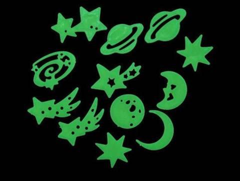 Bilde av Fluoriserende tak/veggdekor - planeter