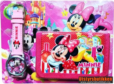 Bilde av Minni Mus gavesett - Klokke og lommebok