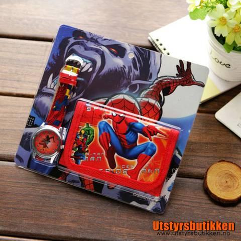 Bilde av Spiderman gavesett - Klokke og lommebok